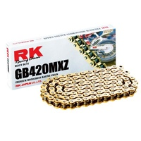RK 420MXZ Heavy Duty Non O Ring Chain GOLD -126 Link - 12-42M-126 -Honda /Suzuki