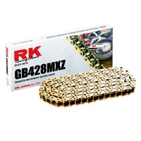 RK 428MXZ Heavy Duty Non O Ring Chain GOLD - 136 Link - 12-48M-136GD - Yamaha