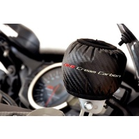 Cream Carbon - Carbon Look Motorcycle Brake Reservoir Cover / Sock