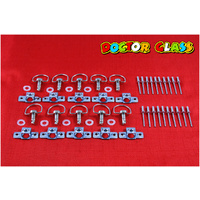 D RING RIVET DZUS FASTENERS X 20 KIT
