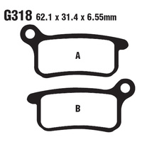 Goodridge CS Brake pads - Model No - G 318 CS - Husqvarna CR65 / KTM SX 65