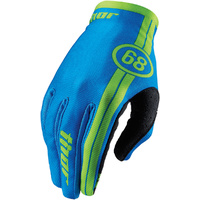 THOR VOID - Mens & Youth COURSE BLUE Dirt Bike Gloves - MX / ATV