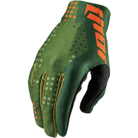 THOR VOID - Mens PIXEL GREEN Dirt Bike Gloves - MX / ATV