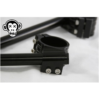 MonkeyBones 50mm Clipon Bar Set - BLACK - Honda / Kawasaki / Yamaha / Suzuki
